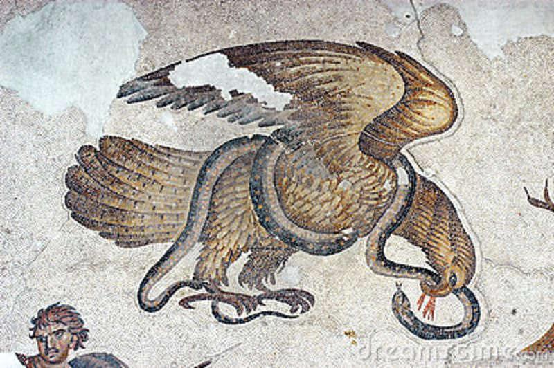 eagle-snake-mosaic